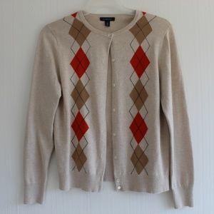 100% cotton Argyle Land's End Sweater